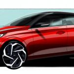 Fiatalosan sportos dizájnt kap a Hyundai i20 következő generációja