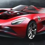 Állejtős Alfa 6C tanulmányt villantott egy olasz dizájner
