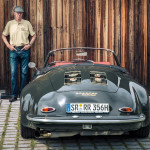 Walter Röhrl, mit seinem Porsche 356 Spezialanfertigung, durch Ralf Dietz, mit Fotograf und Storyteller Rudolf Schmied, auf Ausfahrt  im bayrischen Wald