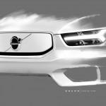 Gyári vázlatokon mutatkozott be az elektromos Volvo XC40