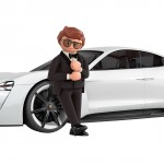 A mozikban is bemutatkozik az elektromos Porsche