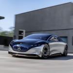 Elektromos luxus szedán elképzelés a Mercedestől