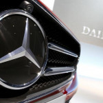 Mercedes-Benz logo is pictured before company's annual news conference in Stuttgart