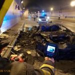 Ritka Lamborghini vált a lángok martalékává Prágában