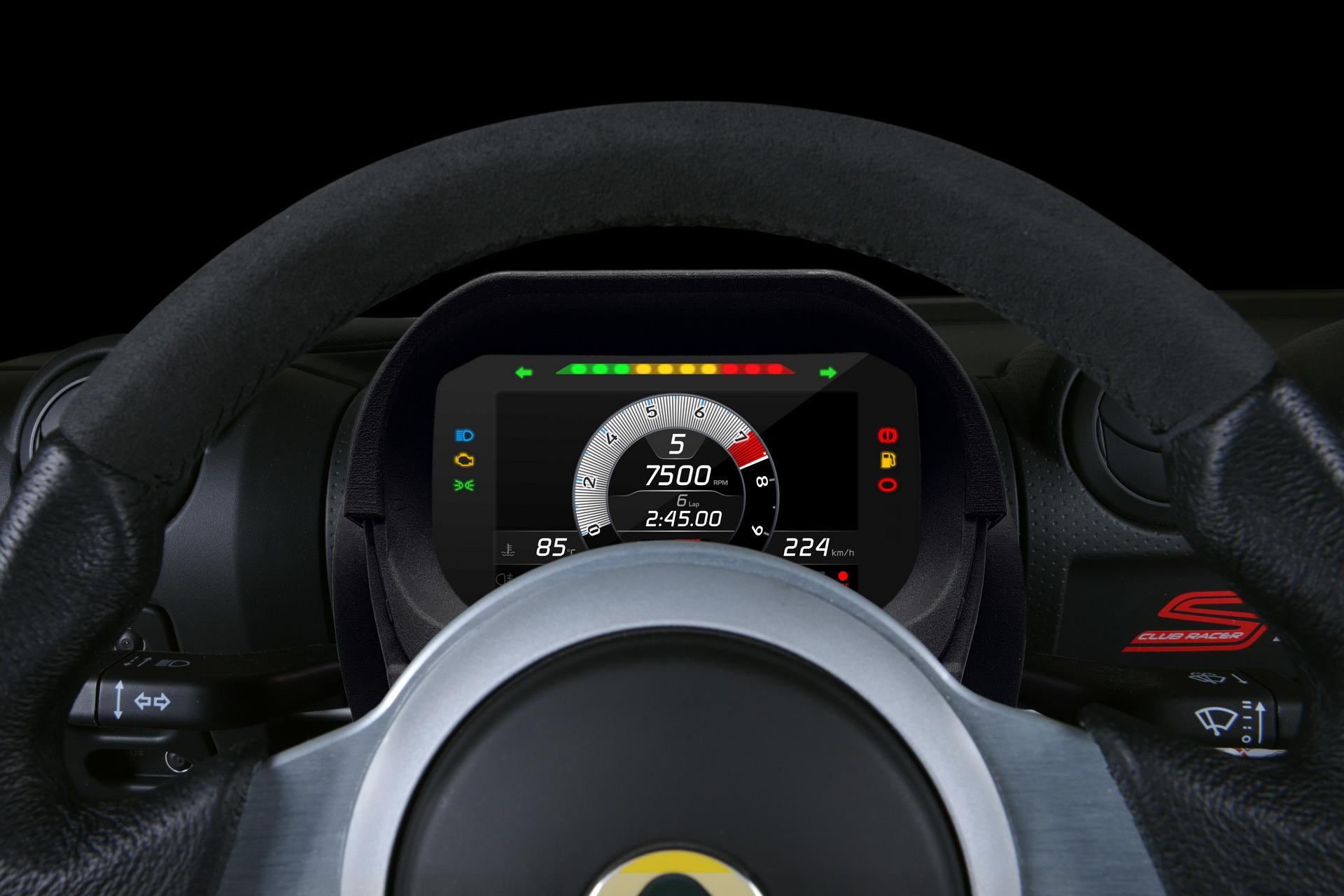 Utólag beszerelhető digitális műszeregységet kínál a Lotus az Exige és Elise modellekhez