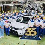 Mérföldkőhöz ért a Magyar Suzuki, már 3,5 millió autó készült el Esztergomban