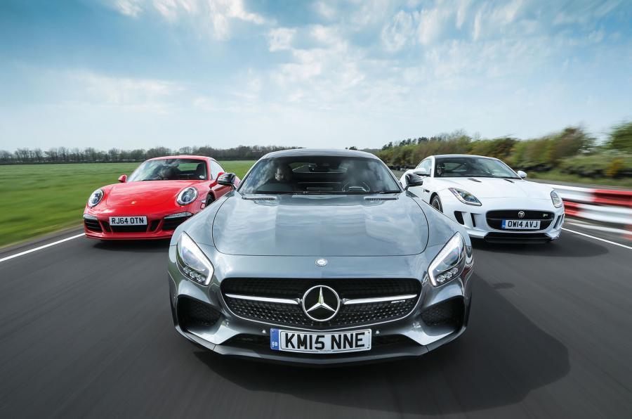 Mercedes-AMG GT S, Porsche 911 GTS és Jaguar F-Type R