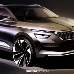 Vázlatokon mutatták meg az új Skoda SUV-t