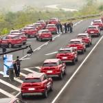 Gigantikus önvezető konvojjal állítottak fel Guinness rekordot Kínában