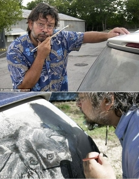 Scott Wade, a koszos autók művésze