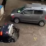 Elnyelt a föld egy kocsit Indiában