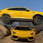 Lamborghinivel ugratott át egy másik felett a híres Youtuber