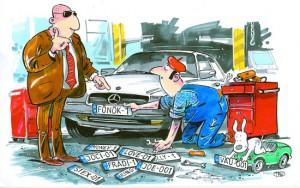 Ha másként számoznád autód