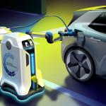 Aranyos robotok töltenék a villanyautókat a jövőben a Volkswagen szerint